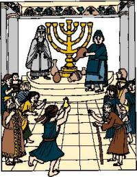 Macabees lighting menorah